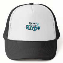 Never Give Up Hope Ovarian Cancer Awareness Trucker Hat