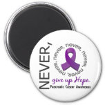 Never Give Up Hope Pancreatic Cancer 2 Inch Round Magnet