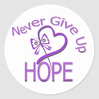 Never Give Up Hope Pancreatic Cancer Sticker