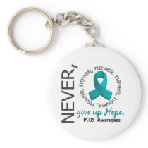 Never Give Up Hope PCOS Keychain