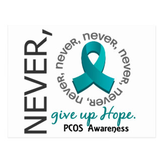 Never Give Up Hope PCOS Postcard