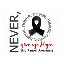 Never Give Up Hope Skin Cancer Postcard