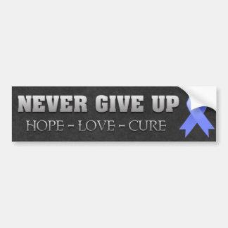 Never Give Up Hope Stomach Cancer Awareness Car Bumper Sticker