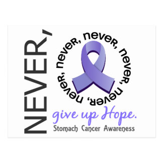 Never Give Up Hope Stomach Cancer Postcard