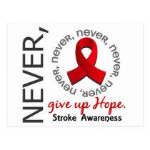 Never Give Up Hope Stroke Postcard