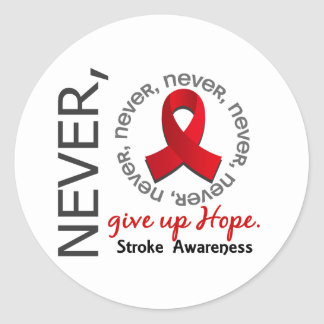 Never Give Up Hope Stroke Classic Round Sticker