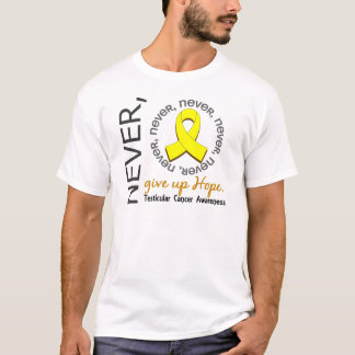 Never Give Up Hope Testicular Cancer T-Shirt