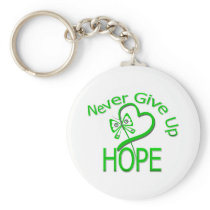 Never Give Up Hope Traumatic Brain Injury Basic Round Button Keychain