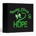 Never Give Up Hope Traumatic Brain Injury Vinyl Binders