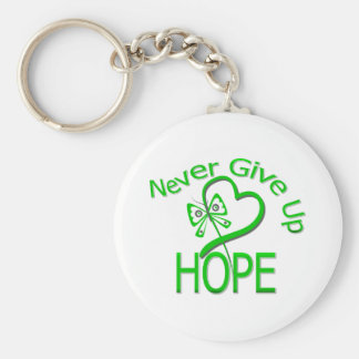 Never Give Up Hope Traumatic Brain Injury Keychain