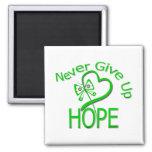 Never Give Up Hope Traumatic Brain Injury Fridge Magnets