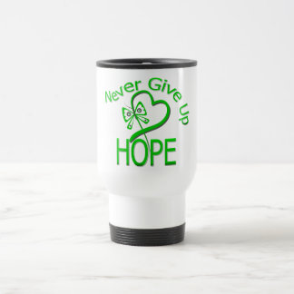 Never Give Up Hope Traumatic Brain Injury 15 Oz Stainless Steel Travel Mug