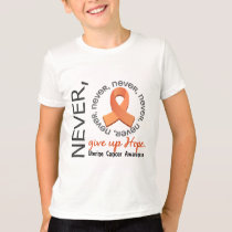 Never Give Up Hope Uterine Cancer T-Shirt