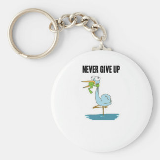 Never Give Up Insperational Design Keychain