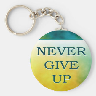 NEVER GIVE UP KEY CHAIN
