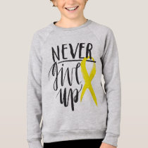 NEVER GIVE UP Kids Sweatshirt