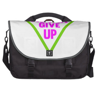 Never Give Up Laptop Bag