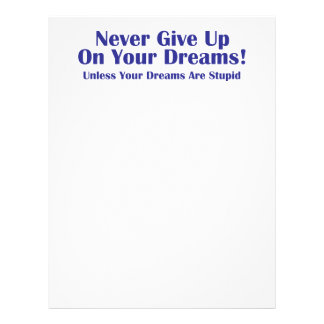 Never Give Up Letterhead