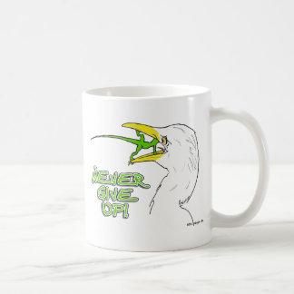 Never Give Up Lizard Coffee Mug