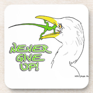 Never Give Up Lizard Coaster