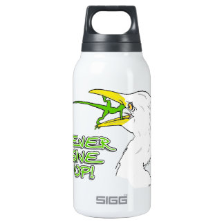 Never Give Up Lizard Insulated Water Bottle