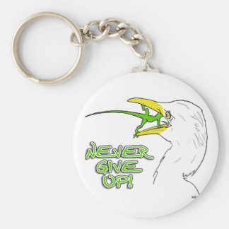 Never Give Up Lizard Key Chains