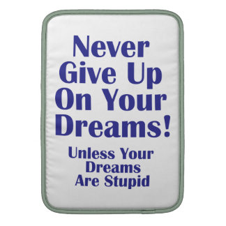 Never Give Up MacBook Air Sleeve