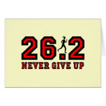Never give up marathon card