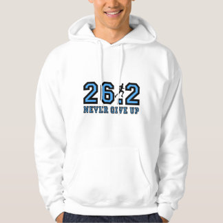 Never give up marathon hooded pullover