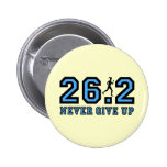 Never give up marathon pins
