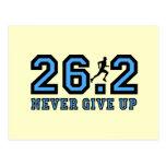 Never give up marathon postcard
