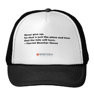Never Give Up Mesh Hat