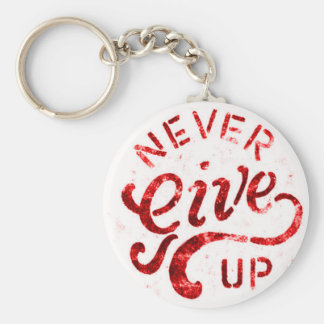 NEVER GIVE UP MOTIVATIONAL ENCOURAGING QUOTES MOTT KEYCHAIN