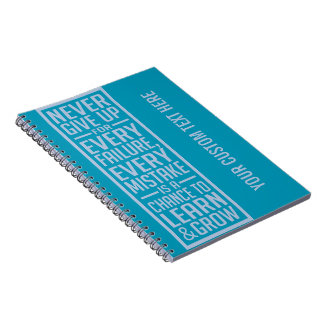 Never Give Up motivational notebook