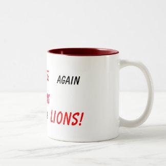 never give up! Two-Tone coffee mug