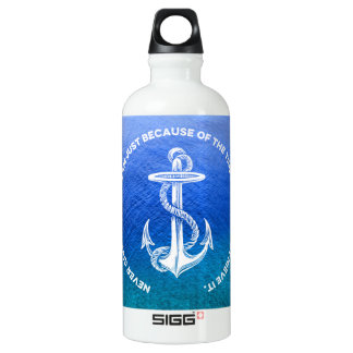 Never Give Up On Dream Blue Ocean Vintage Anchor SIGG Traveler 0.6L Water Bottle