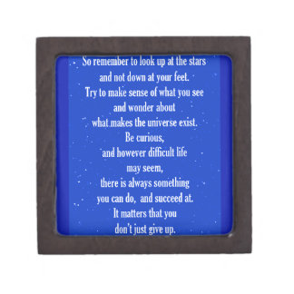 NEVER GIVE UP ON YOURSELF MOTIVATIONAL QUOTES SAYI PREMIUM JEWELRY BOX