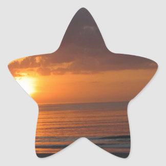 Never Give Up Orange Sunset Beach Star Sticker