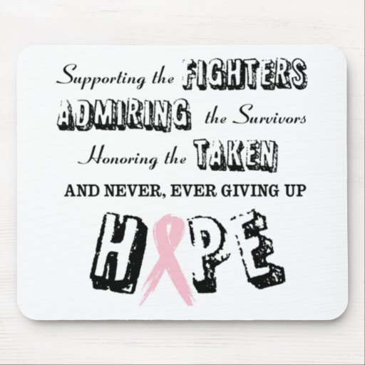 Never Give Up - Pink Mouse Pad