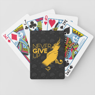 Never Give Up Playing Cards