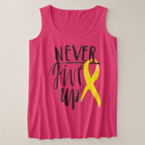 NEVER GIVE UP Plus-Size Tank Top
