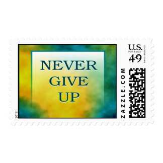 NEVER GIVE UP POSTAGE