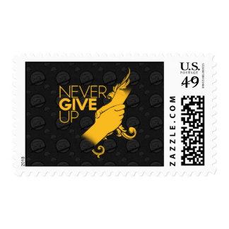Never Give Up Postage Stamps