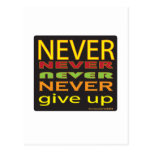 never give up postcards