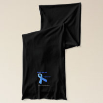 Never Give Up Prostate Cancer Blue Ribbon Scarf