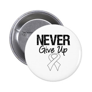 Never Give Up Ribbon (Lung Cancer) Buttons