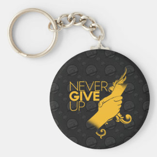 Never Give Up Round Keychain