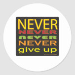never give up stickers