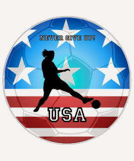 never give up USA soccer T-shirt