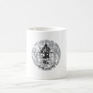 'Never Give Up' White 11 oz Classic Mug